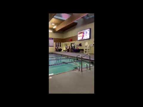 Estes Park High School swim and dive senior night