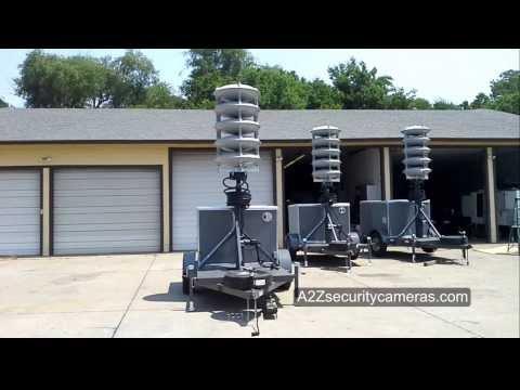 A2Z 360 Acoustic Alert Mobile Command Trailer View Plus Mechanical Mast Demo