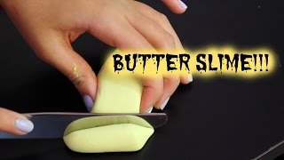 How to make butter slime !!