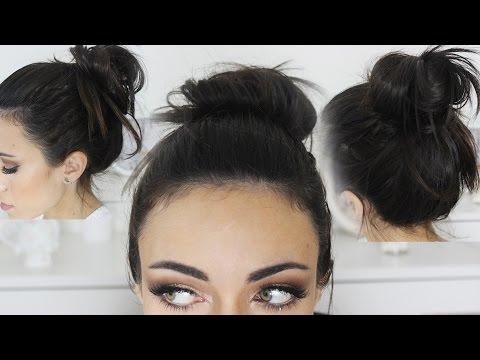 Quick And Easy 5 Seconds Cute Messy Bun Tutorial Makeupandartfreak Youtube