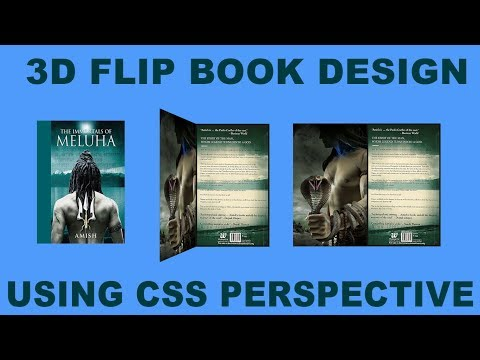 Pure CSS 3D Animated Flip Book Or Card Design - 3D Perspective Flip Effect On Hover Using CSS