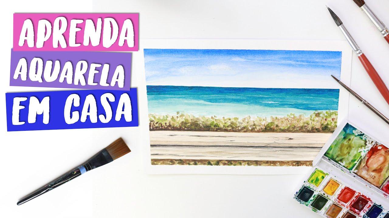 DICAS práticas para pintar praia em AQUARELA! Por Isabelle Verona