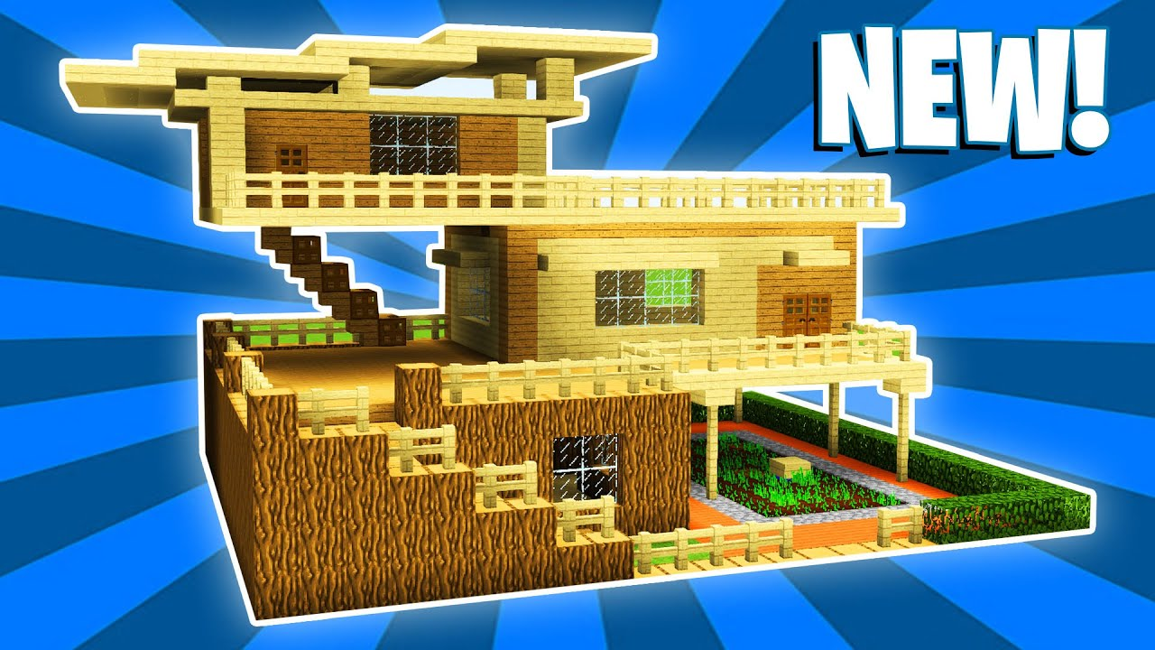Minecraft Survival House Tutorial 1 Easy How To Build A House In Minecraft Youtube