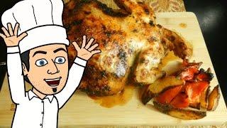 курица в духовке очень сочная и нежная по новой техники готовки. рецепт от  шоу жарь пей
