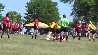 """(WI-16') Lakefront 7's HS Girls - Wisconsin Select 2 vs. Hawkettes Gold """"IA"""" (2nd Half) 7/9/16"""
