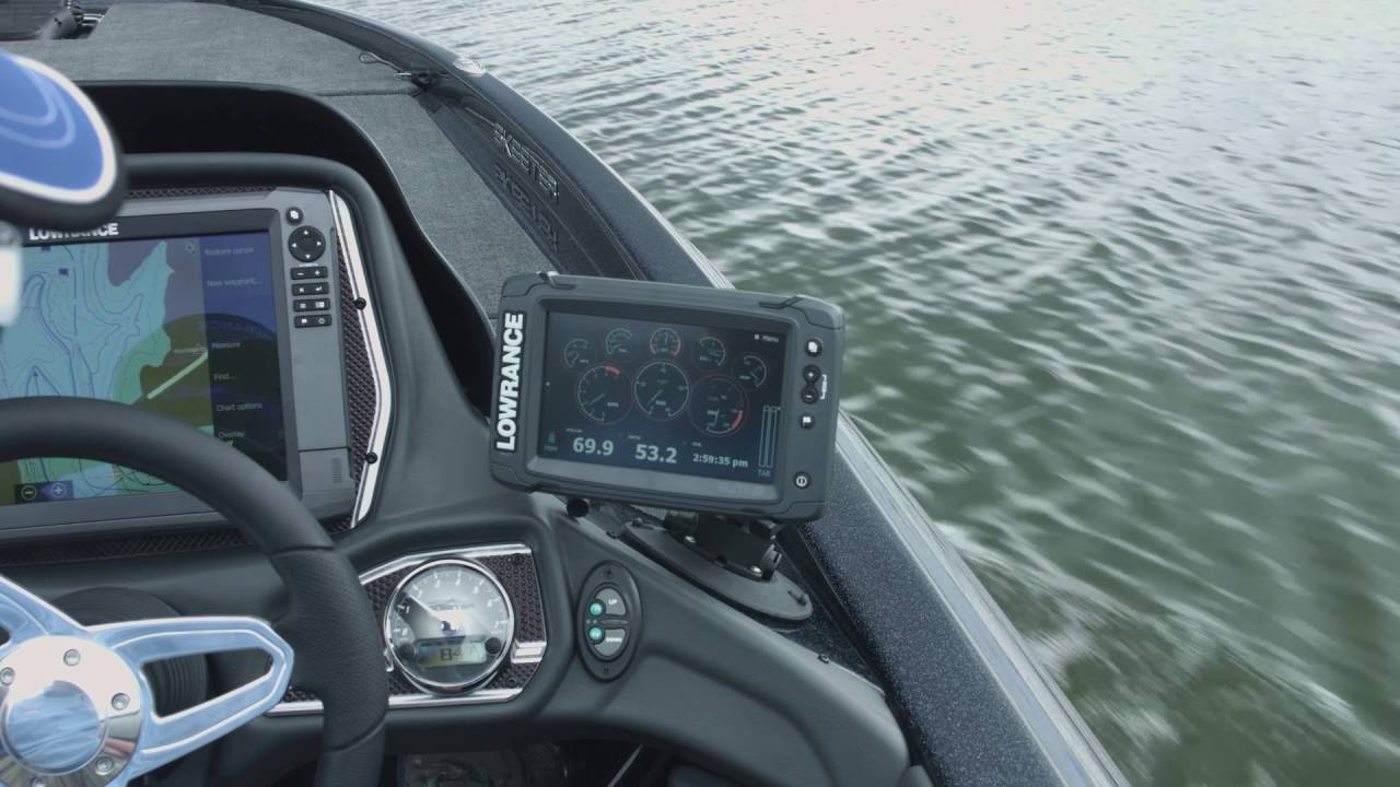 Get Engine Data from the Lowrance Elite Ti Graphs - YouTube