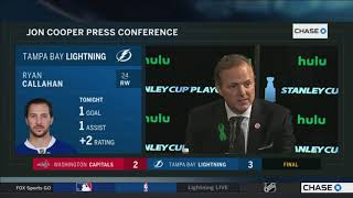 Jon Cooper -- Tampa Bay Lightning vs. Washington Capitals Game 5 05/19/2018