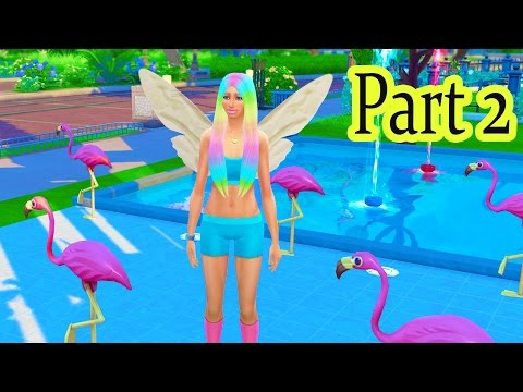 Fairy Fantasy FairyTale Part 2 Colors Pool Lounge SIMS 4 Game Let's Play Video Series