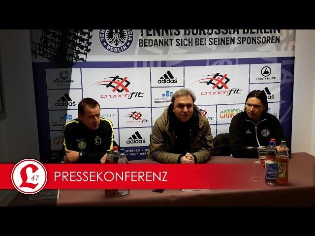 Oberligateam: Pressekonferenz nach dem Spiel Tennis Borussia – Lichtenberg 47