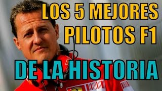 LOS 5 MEJORES PILOTOS DE F1 DE LA HISTORIA