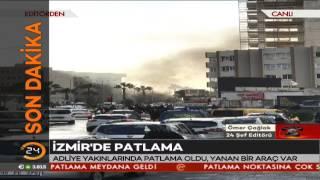 İzmir'de patlamaya ilişkin ilk görüntüler