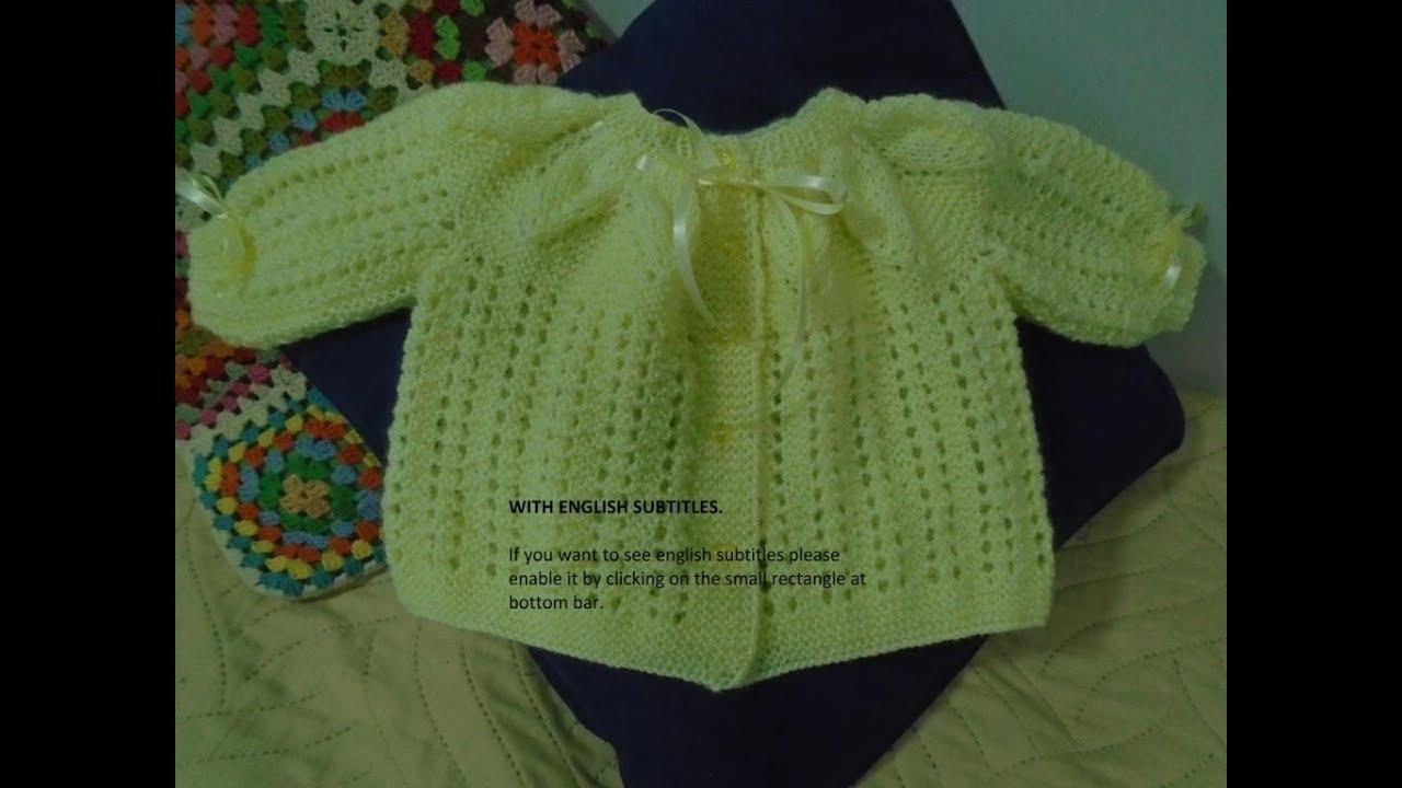 44ec7cc9db07 Casaquinho de Bebê Pala Folha Simples em Tricô - YouTube