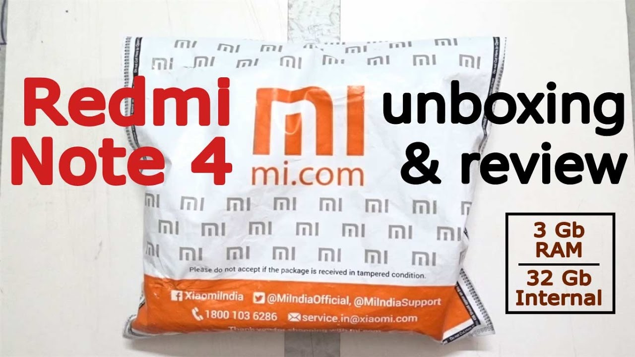 Redmi Note 4 Unboxing: Redmi Note 4 Unboxing And Hands-on Review