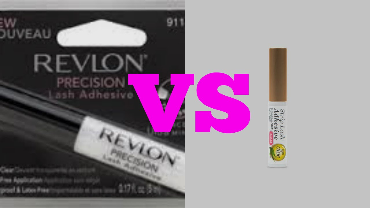 c39635a80b1 Revlon lash glue VS Kiss lash glue - YouTube