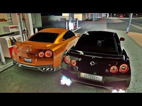 FORZA HORIZON 3 - GOPRO - NISSAN GT-R 2017 VS NISSAN GT-R BLACK EDITION 2012 - G27 - ft. GETAWAY