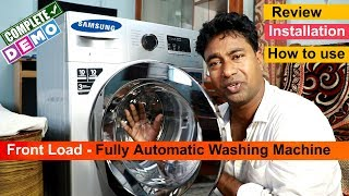 Samsung Front Load - Fully Automatic Washing Machine Review & Demo | How To Use In