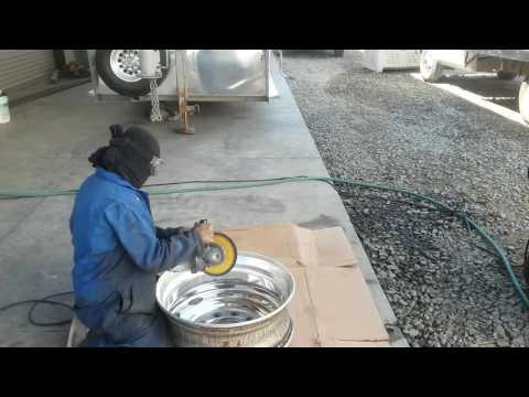DIY Tony Metal Art how to polish aluminum/cutting inside of rim pt. 4