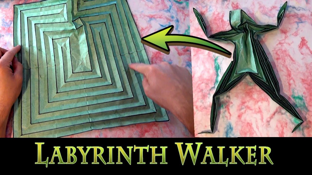 origami labyrinth walker by jeremy shafer youtube
