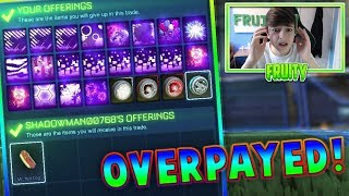 OVERPAYING IN TRADES | *TRADING WITH FANS* | Rocket League