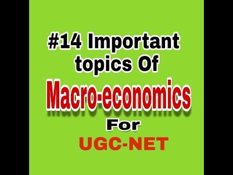 14 important topics of Macroeconomic for UGCNET economics