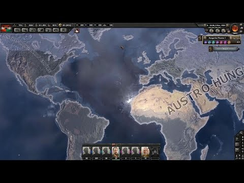 The Austro-Hungarian Empire Rule The World  - Hearts of Iron IV (Timelapse)