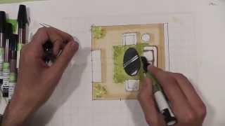 Видео урок по скетч-план. Рисуем скетч-план в Arte de grass