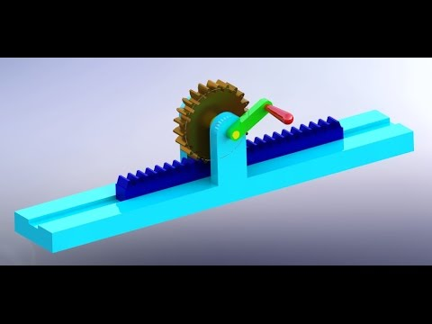 how to make rack and pinion gear in solidworks