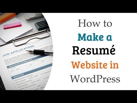 How To Make A Resumé Website In WordPress