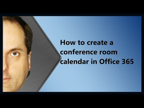 How to create a conference room calendar in Office 365