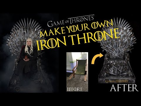 Make Your Own Life-Size Replica Iron Throne!