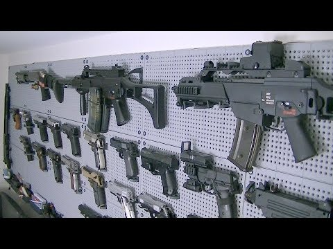 AIRSOFT GUN WALL 2015 / AIRSOFT ARMORY / ARMOURY UPDATE APRIL 2015 BY AIRSOFT MIKE
