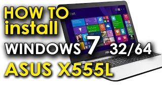 как установить Windows 7 на Asus x555L с поиском драйверов. na-chasti.ru