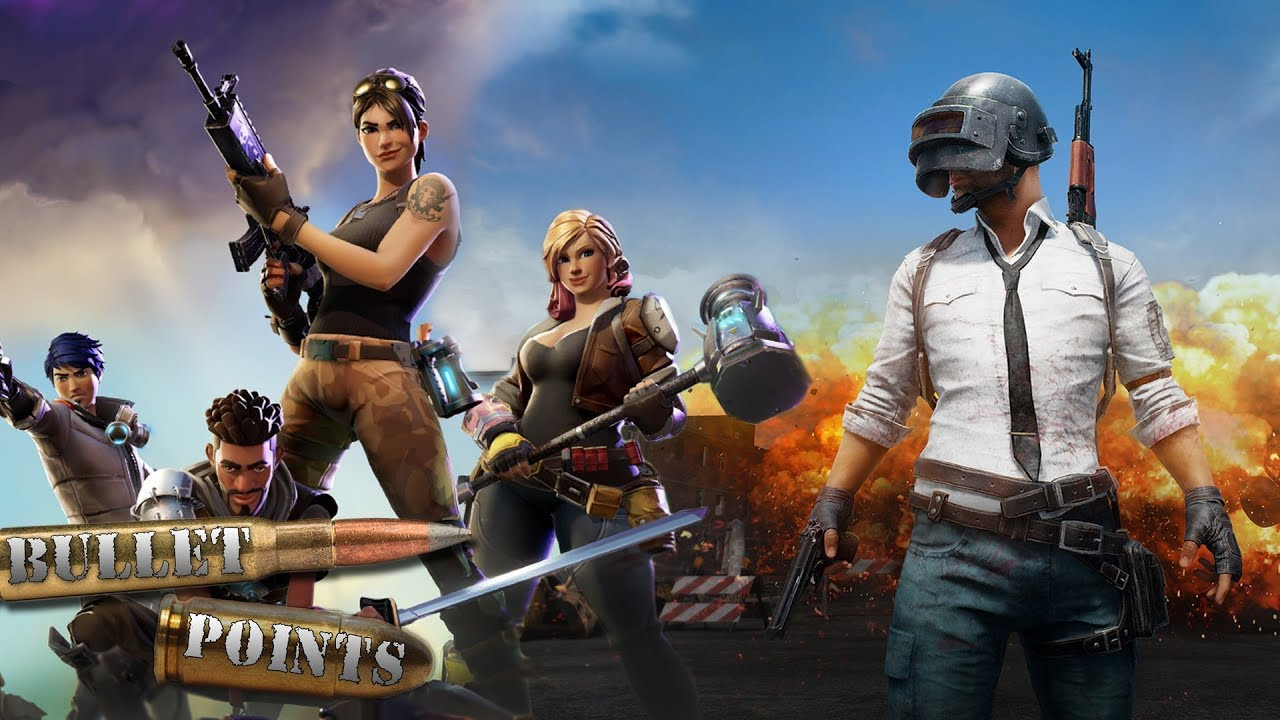 Pubg V Fortnite: Fortnite V.S. PUBG: Bullet Points