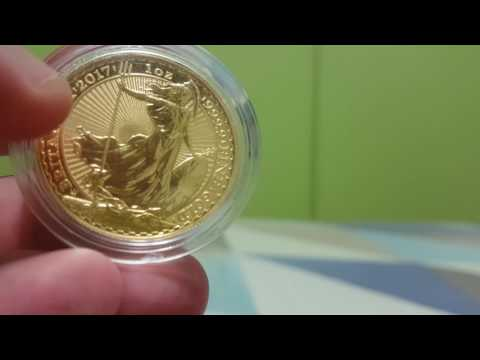 Royal Mint Britannia 1 oz Gold 2017 30th Anniversary edition Review