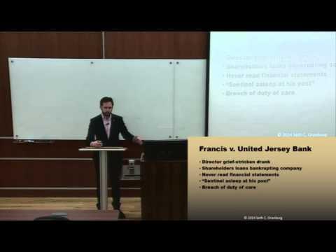 Corporations: Module 8 (Director Liability)