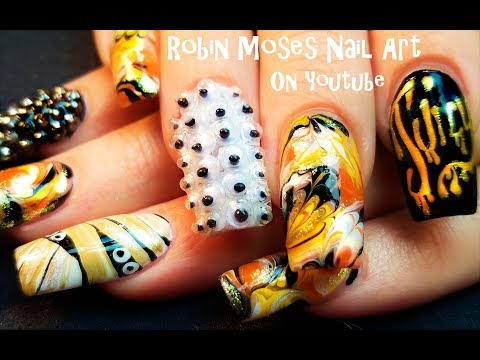 Get your DIVA nails for Halloween! Hot and Spooky Nail Art Design Tutorial