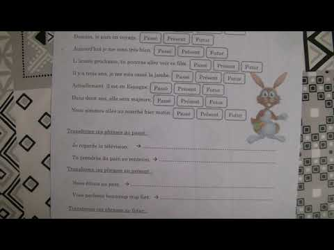 150920 Ce1 Consignes Exercices Passe Present Futur Youtube