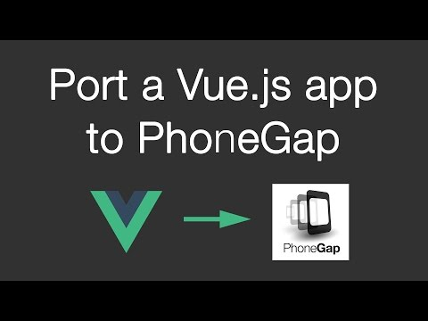 Port a Vue.js webapp to PhoneGap tutorial | How to create a Twitter app | Episode 04
