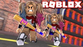 ROBLOX 2 PLAYER SUPERHERO TYCOON / HARLEY QUINN TWINS TEAMING UP!!! / BLOX4FUN