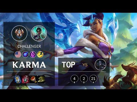 Karma Top vs Shen - NA Challenger Patch 10.22