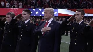 Trump Sings The National Anthem