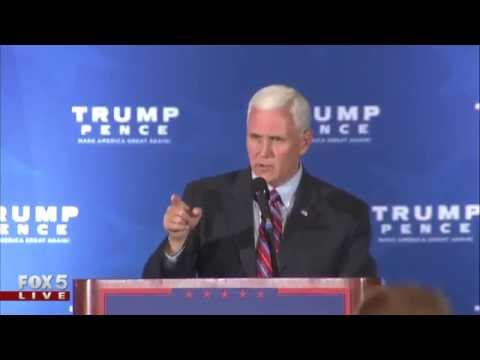 GOP VP candidate Mike Pence holds rally in GA