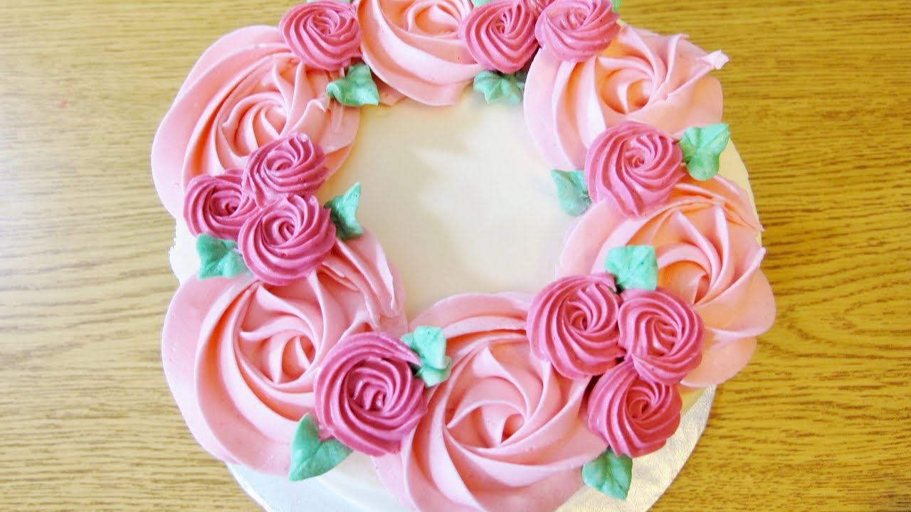 An Easy Flower Wreath Cake Tutorial Spring Cake Trend Sweetwater