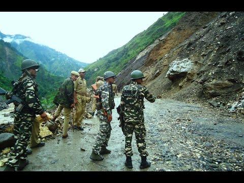 Land Slide During Amarnath Yatra On Jammu Srinagar Highway, Kashmir, India