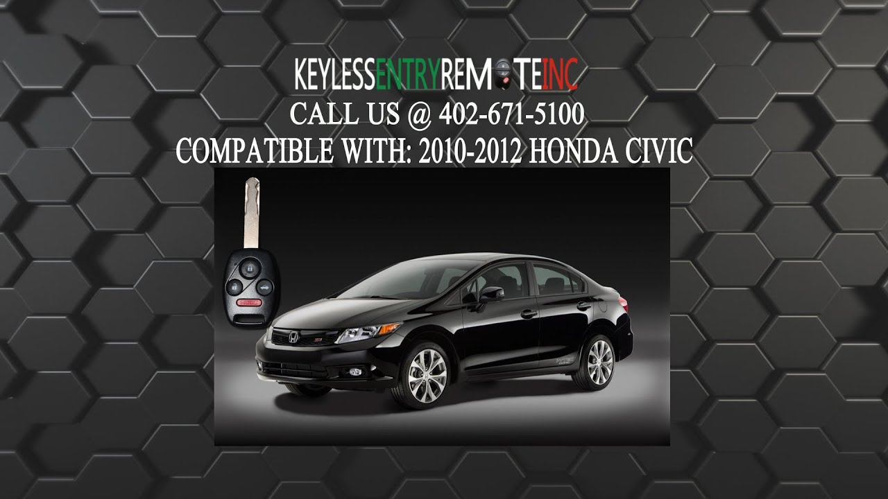How To Replace Honda Civic Key Fob Battery 2010 2011 2012 - YouTube