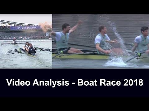 Video Analysis - Men's Boat Race 2018 (Oxford vs Cambridge)