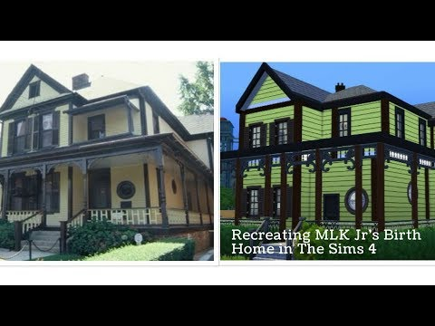 Martin Luther King Jr's Birth Home | The Sims 4 Speed Build