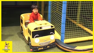 Kid Indoor Playground Family Fun Play Area for kids! Tayo bus car | MariAndKids Toys