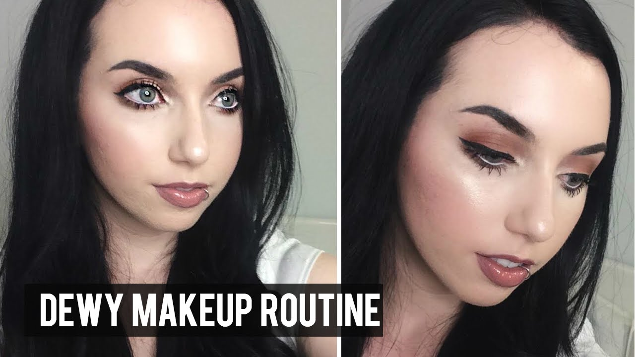 Dewy Skin Makeup Routine Full Coverage Pale Skin