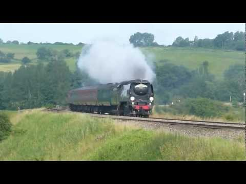 34067 Tangmere  The Weymouth Express @ Newton st Loe (Bath) 15.07.12
